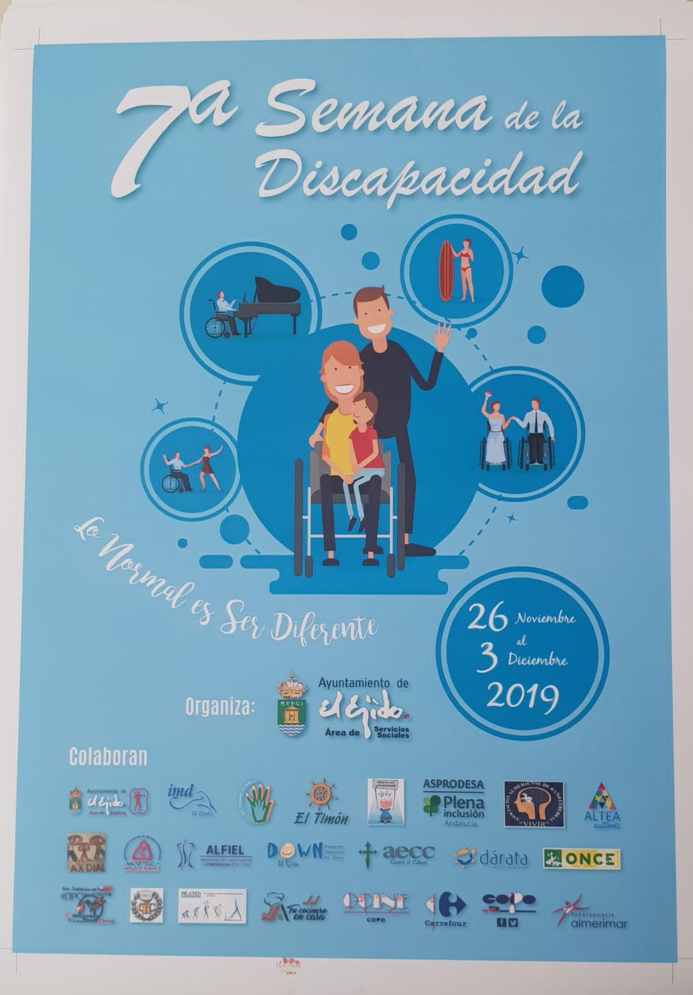ALFIEL, participa en la 7ª Semana de la Discapacidad de El Ejido. «Lo normal es ser diferente»